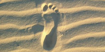 Australie Ultimate Oz Surf footprint in the sand
