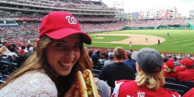 Au Pair in Amerika baseball game