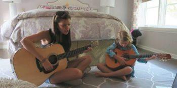Au Pair in Amerika gitaarles