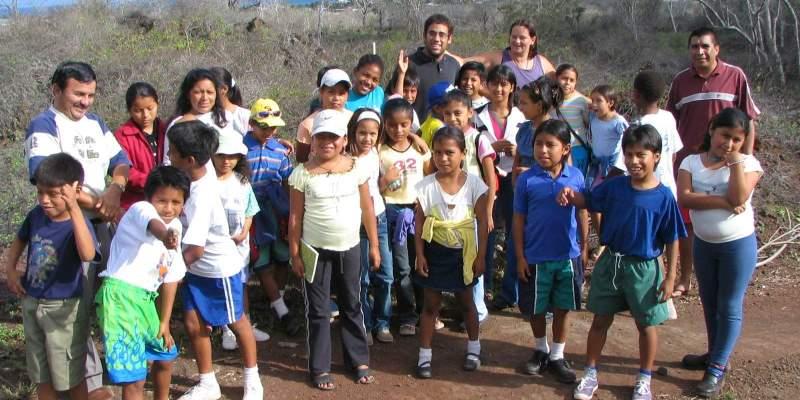 Ecuador Galapagos eilanden schoolklas