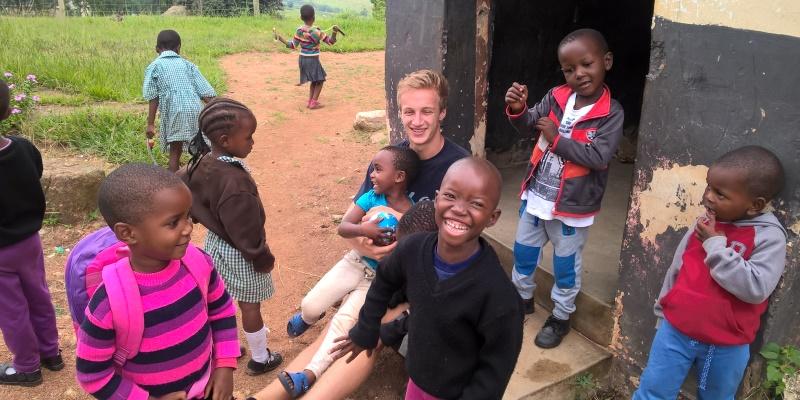 Kruger to Coast Kruger deelnemer Wouter op school