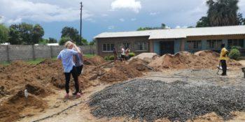 Livingstone aanbouw nieuw klaslokaal feb 19