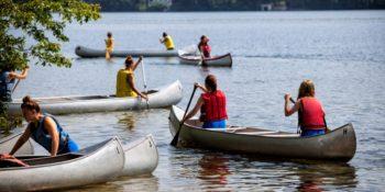 Summercamp USA kanoen