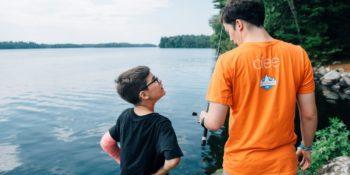 Summercamp USA vissen