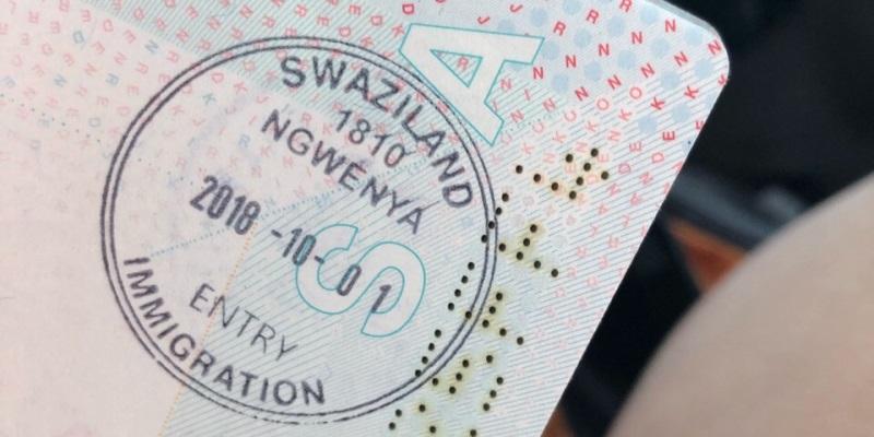 Visum Swaziland in paspoort