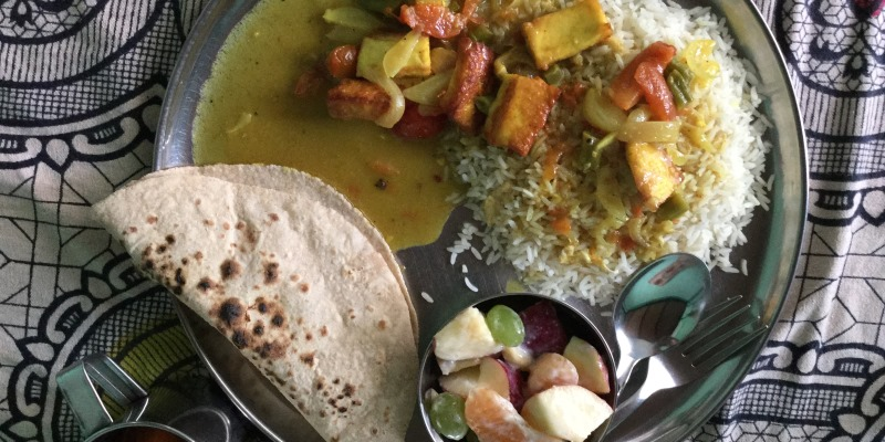 Vrijwilligerswerk Kathmandu maaltijd