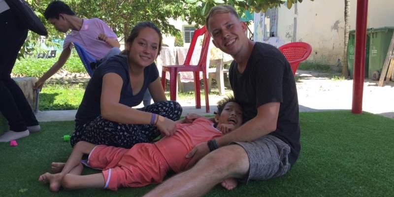 Vrijwilligerswerk Vietnam Marieke bij fysio project