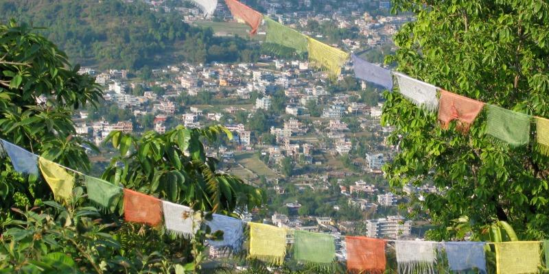 Vrijwilligerswerk in Kathmandu Nepalese vlaggetjes