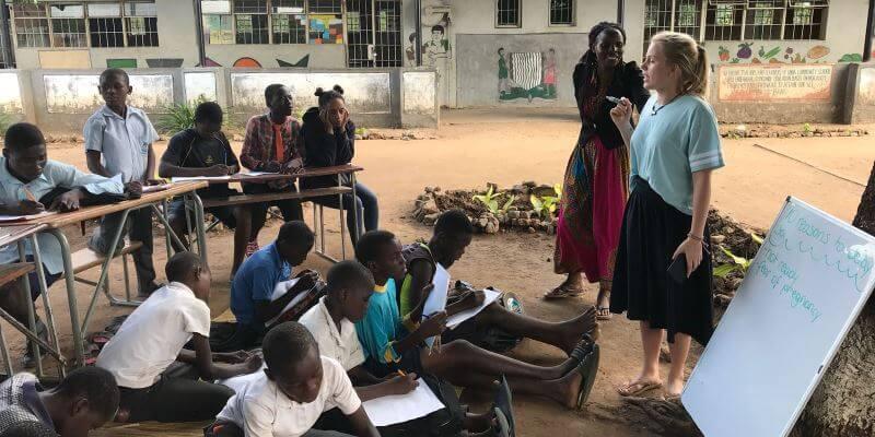 Zambia buitenklasje foto van Delphine 2