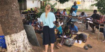 Zambia lesgeven foto van Delphine