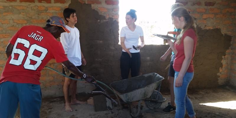 Zambia vrijwilligerswerk Livingstone bouwproject
