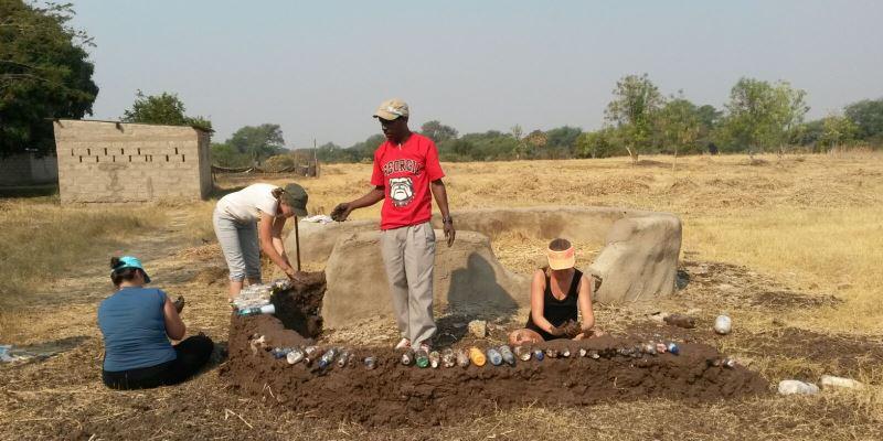 Zambia vrijwilligerswerk Livingstone eco building 2