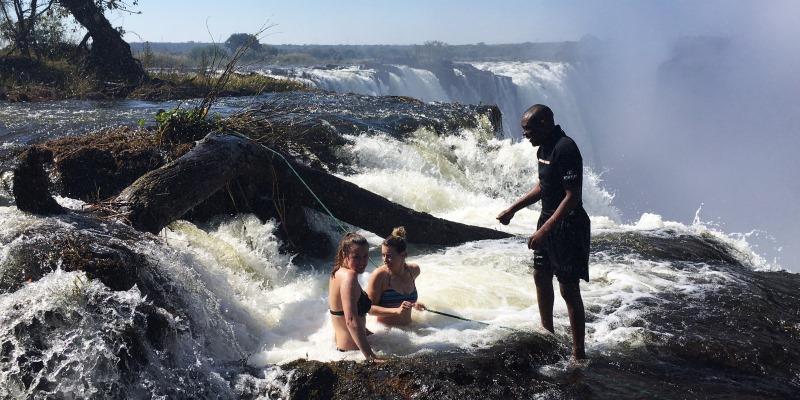 Zambia vrijwilligerswerk Livingstone watervaljpg