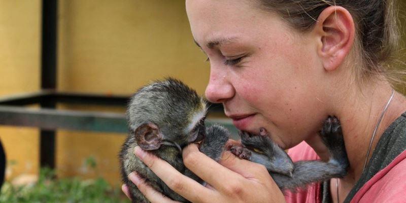 Zuid-Afrika Monkey Rehab Arlette van Veen