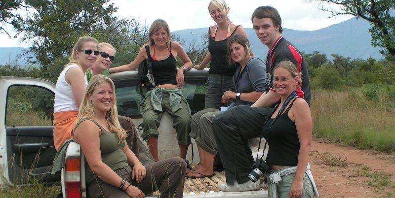Zuid-Afrika Monkey Rehab project pick up truck