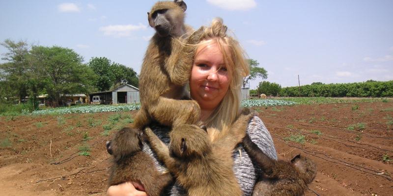 Zuid-Afrika Monkey Rehabilitation project Sien Jansen