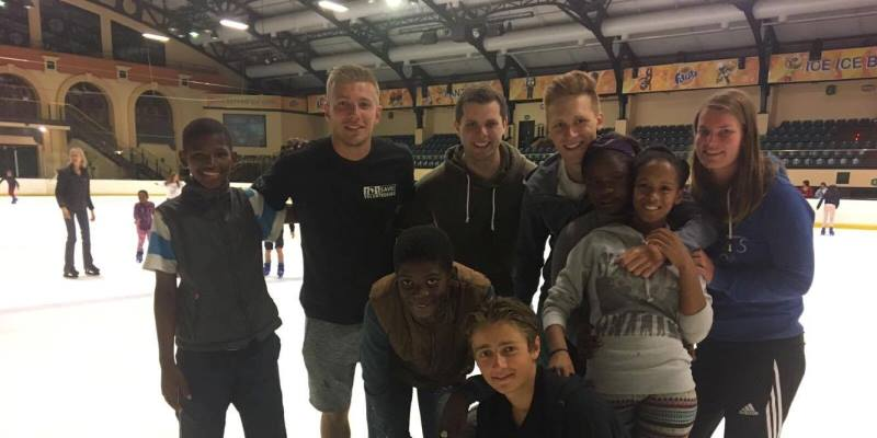 Zuid-Afrika Surf and Adventureclub iceskating