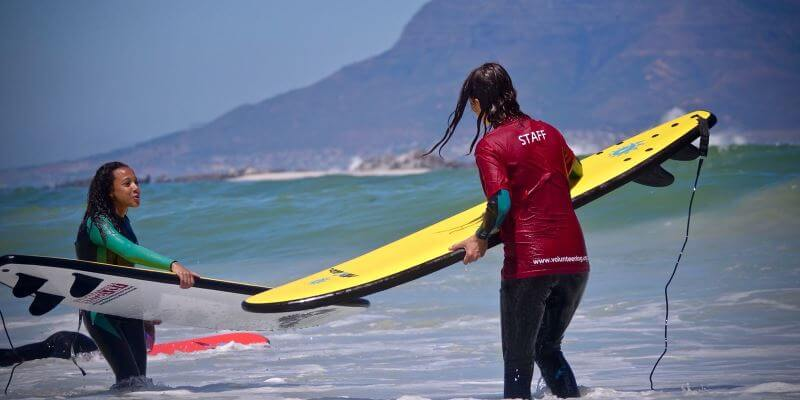 Zuid-Afrika Surf and Adventureclub project Surfles