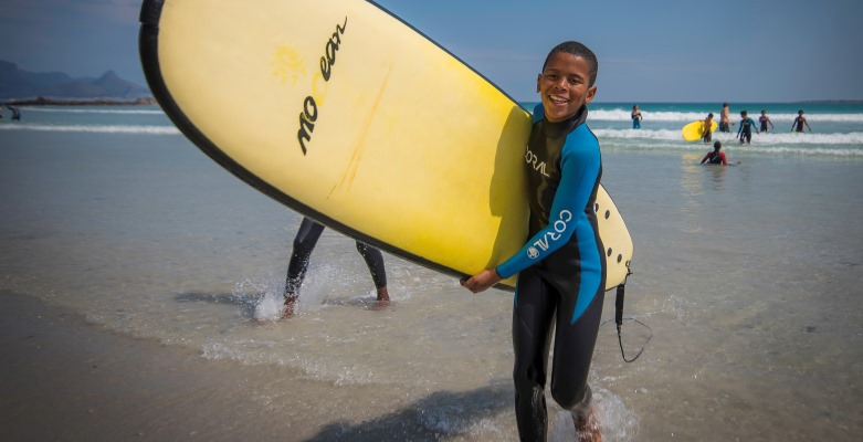 Zuid-Afrika Surf and Adventureclub project happy kid