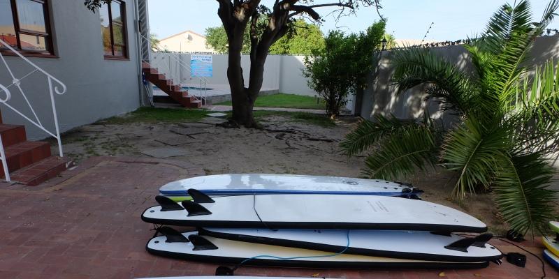 Zuid-Afrika Surf and Adventureclub vrijwilligershuis tuin