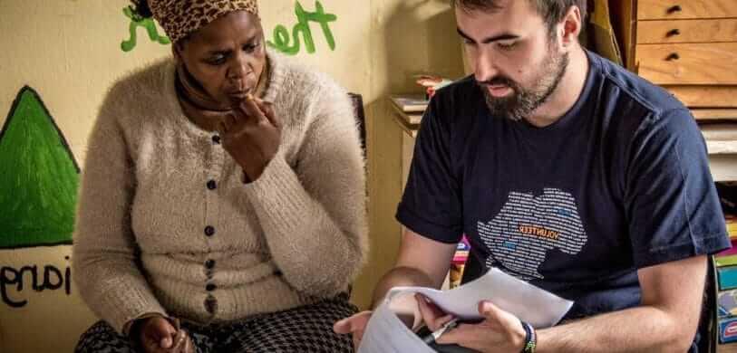 Zuid-Afrika vrijwilligerswerk Kaapstad DIY vrijwilliger met vrouw