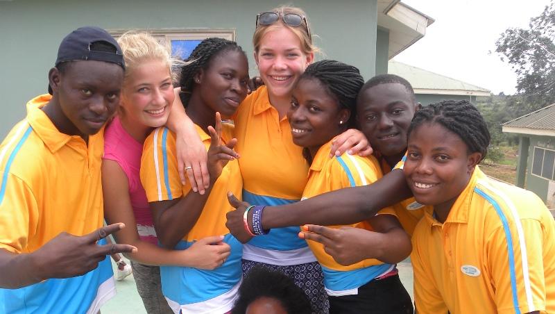 Ghana vrijwilligerswerk Accra Annick en Arianne