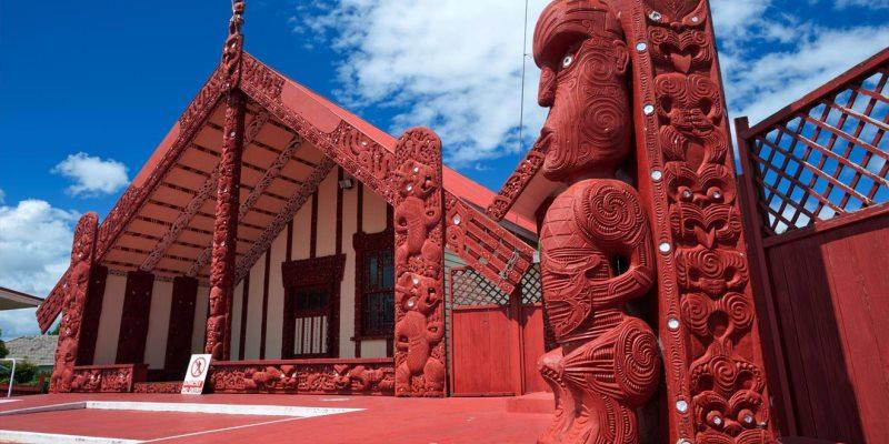 Nieuw Zeeland Marae-huis