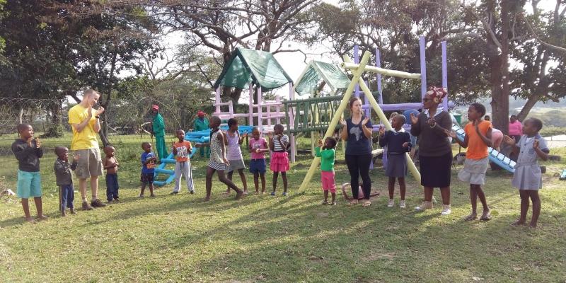 Zuid-Afrika Zululand spelletjes in de kring