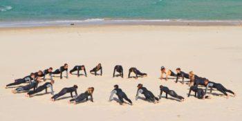 Australie Surf College warming up