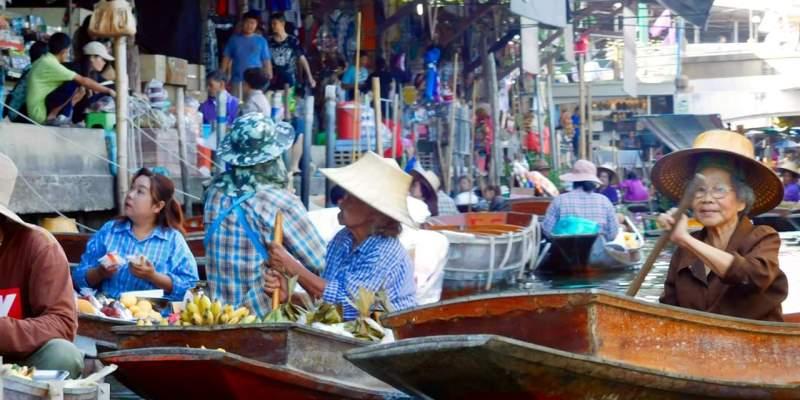 Centraal Thailand drijvende markt