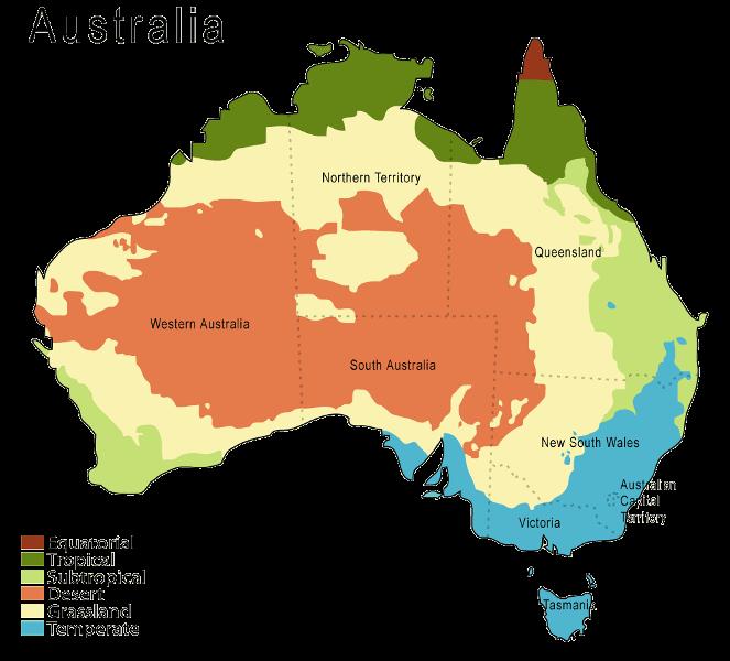 Austalie klimaat