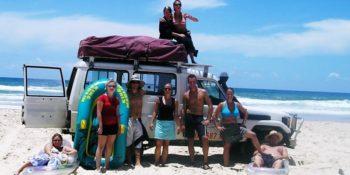 Australie-4x4-on-the-beach