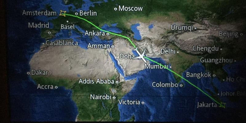 Indonesie Bali cultuur en lesgeven Bali onderweg in het vliegtuig
