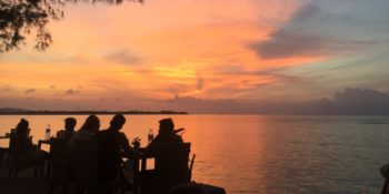 Indonesie Bali cultuur en lesgeven Bali sunset