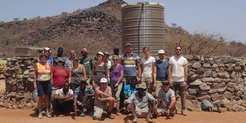 Namibia Expedition groep vrijwilligers