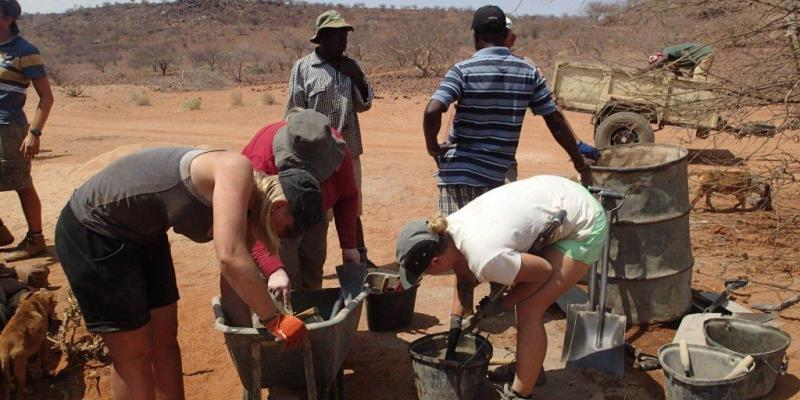Namibia Expedition putten bouwen
