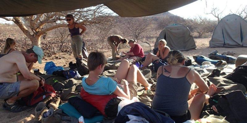 Namibia Expedition slapen onder de sterrenhemel