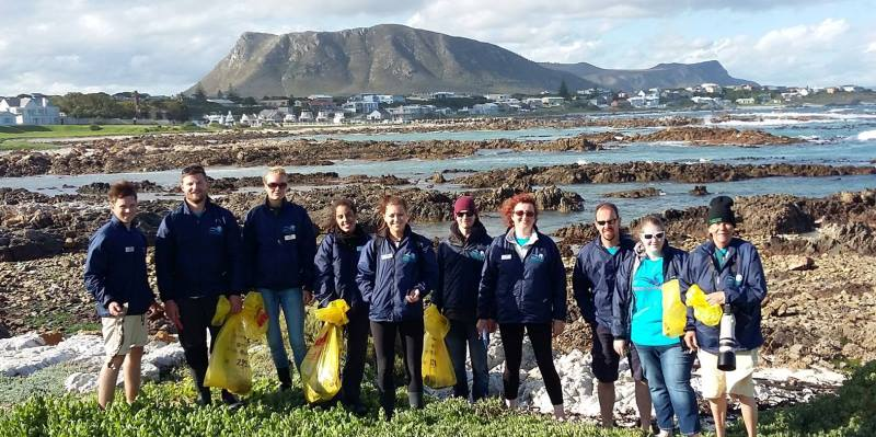 Zuid-Afrika Marine Conservation Gansbaai Beach Clean up