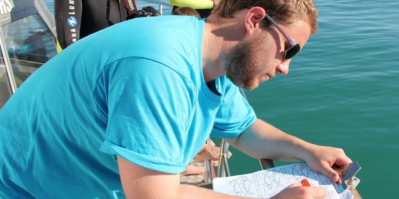 Zuid-Afrika-Marine-Conservation-Gansbaai-Data-capturing-on-board