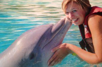 Au Pair Amerika au pair Lieke met dolfijn