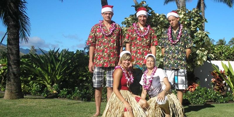 Liele met gastfamilie tijdens Kerst