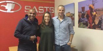 Zuid-Afrika reisverslag Yvette op kantoor SAST