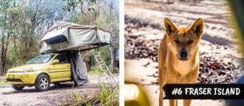 Jaartje backpacken Down Under Fraser Island