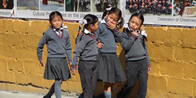 Vrijwilligerswerk Nepal Annick bezoekt school