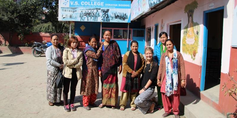 Vrijwilligerswerk Nepal Annick bezoekt women empowerment project