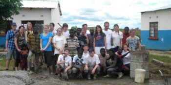 Zambia Bouwproject groep vrijwilligers