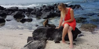 Ecuador Galapagos Annesietske met zeehond