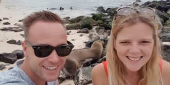 Ecuador Galapagos Annesietske selfie