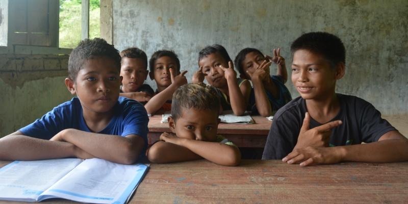 Vrijwilligerswerk Flores schoolklas