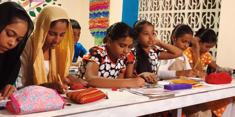 MAri in Sri Lanka lesgeven 3